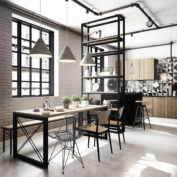 Come Arredare una Sala Da Pranzo in Stile Industriale | Industrial ...