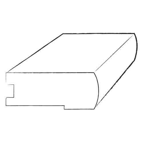"0.75"" x 3.125"" x 78"" Brazilian Rosewood Stair Nose in Semi Gloss"