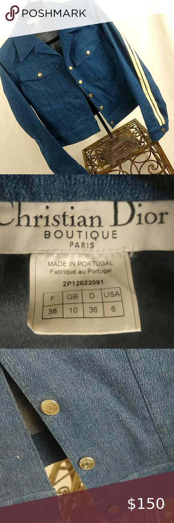Vintage Christian Dior Denim Jacket Denim Jacket Christian Dior Dior Jacket [ 1740 x 580 Pixel ]