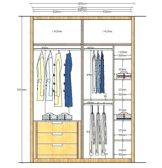 Standard Closet Sizes Master Bedroom Pembuatan Lemari Rak Baju Lemari Terbuka