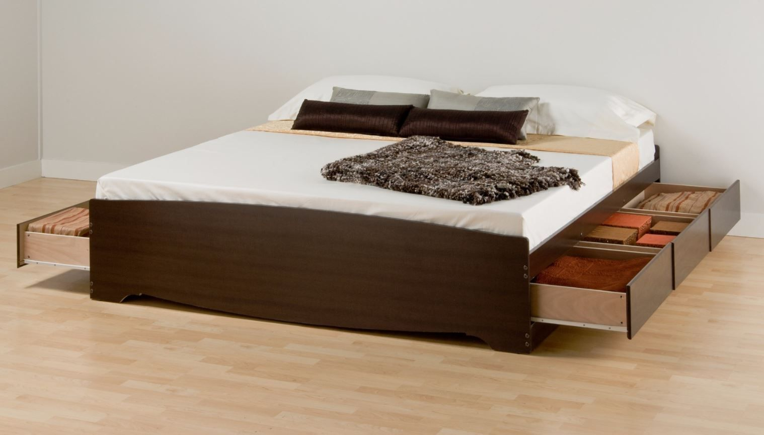 Espresso King Mate S Platform Storage Bed W 6 Drawers Prepac Ebk 8400 K Enjoy Floor E And With The