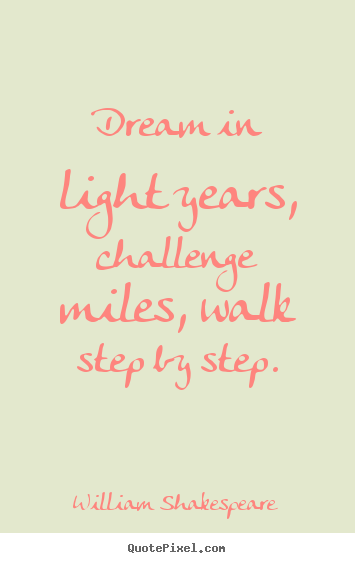William Shakespeare Quotes About Friendship Awesome Dream In Light Years Challenge Miles Walk Stepstep William