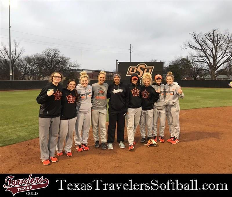 Madison Mcclarity Deemcclarity04 With Part Of The Oklahoma State University Softball Team Madison Had A Great Experience At Their Softball Camp And Enjoyed Me Softball Camp Softball Team Osu Baseball