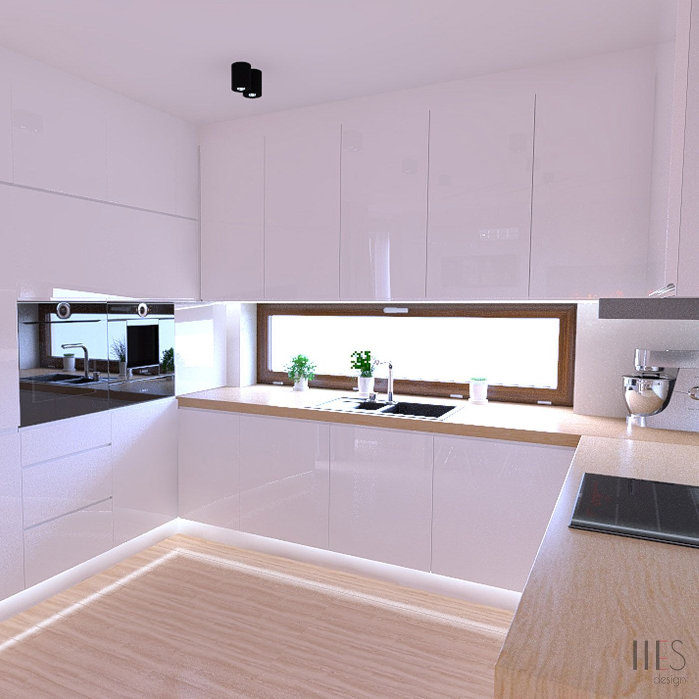 Biala Kuchnia Otwarta Na Salon Tworzy Eleganckie I Jednoczesnie Funkcjonalne Wnetrze Small House Design Kitchen Cabinets Kitchen