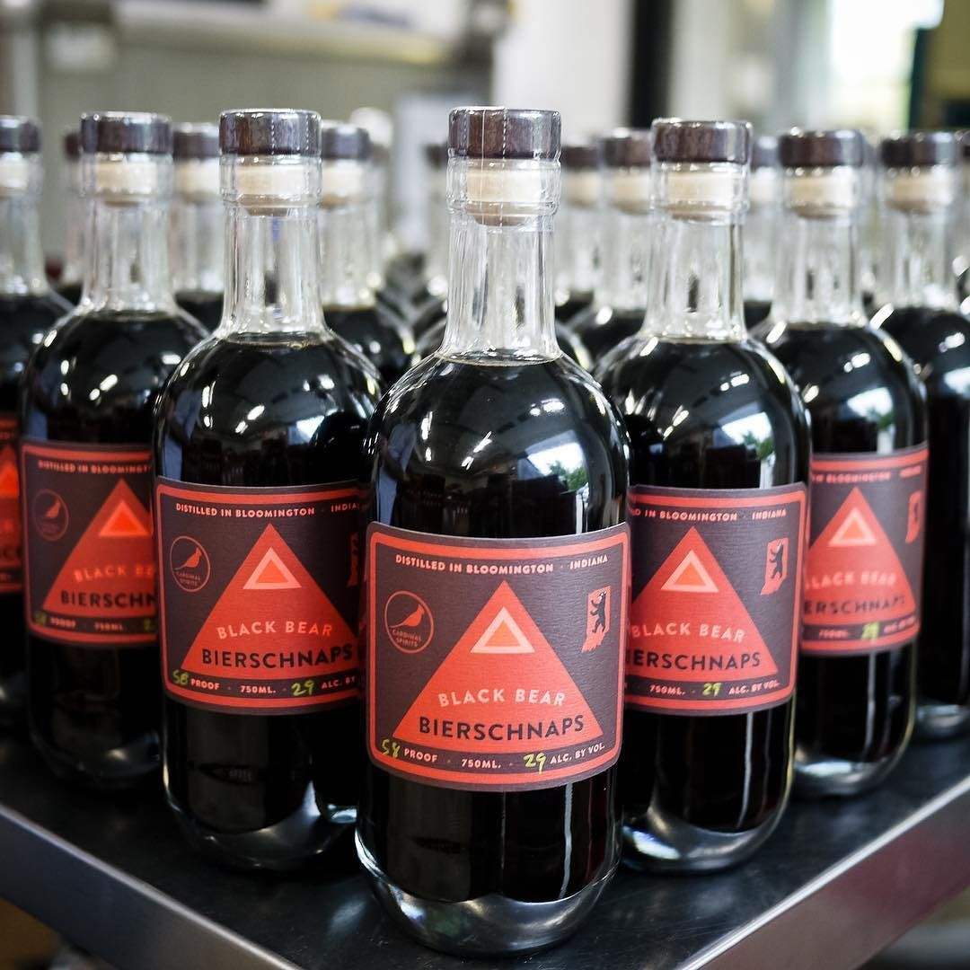 Today At The Distillery We Release Bierschnaps A Distilled Stout Made With Uplandbrewco Teddy Bear Kisses Stout A Fun Collab Distillery Red Wine Wine Bottle