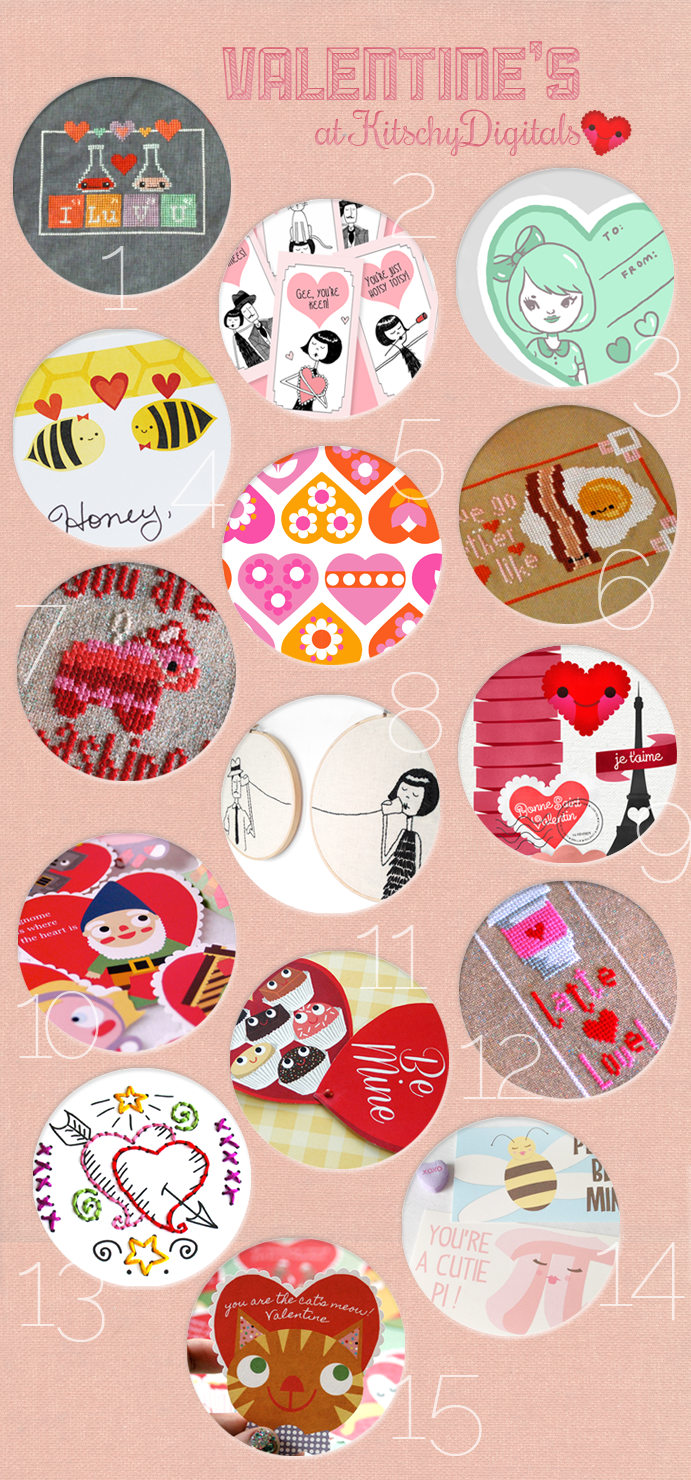 Valentineus themed printables embroidery u crossstitch patterns