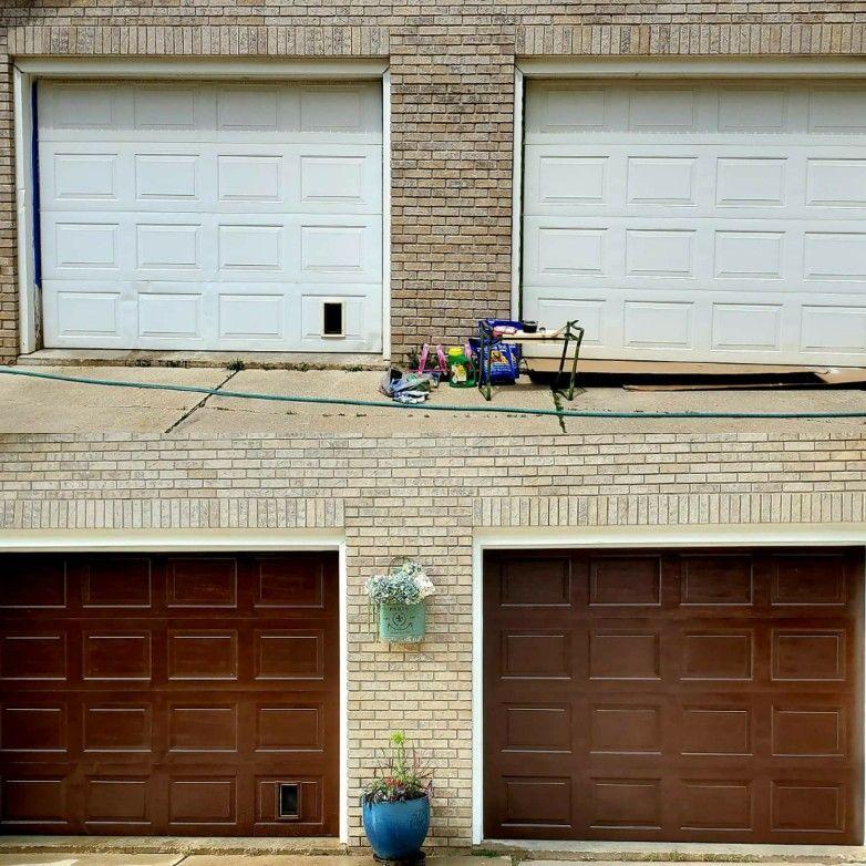 #minwax #garage #gelstain #garagedoor #updategaragedoor #curbappeal