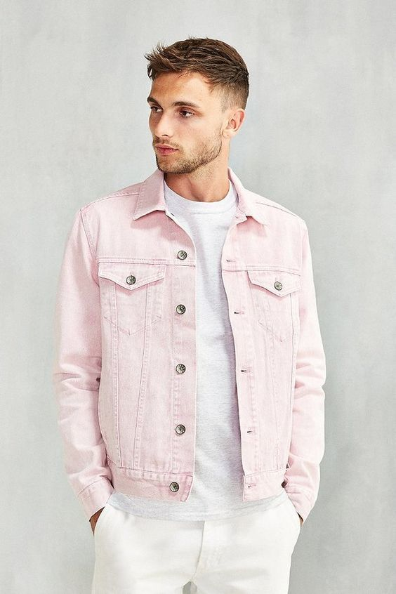 5da423ddbc59 Give a shot to this amazing Light Pink Denim jacket