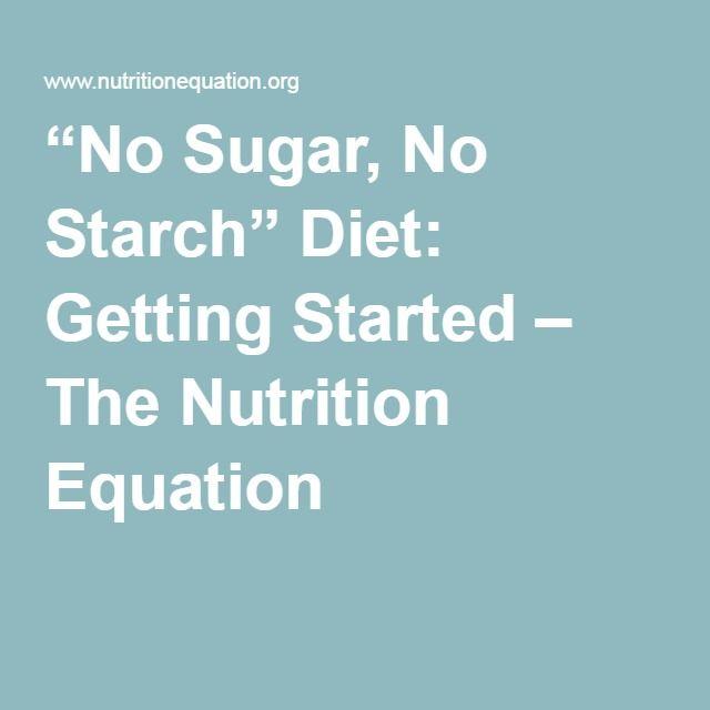 no sugar, no starch diet