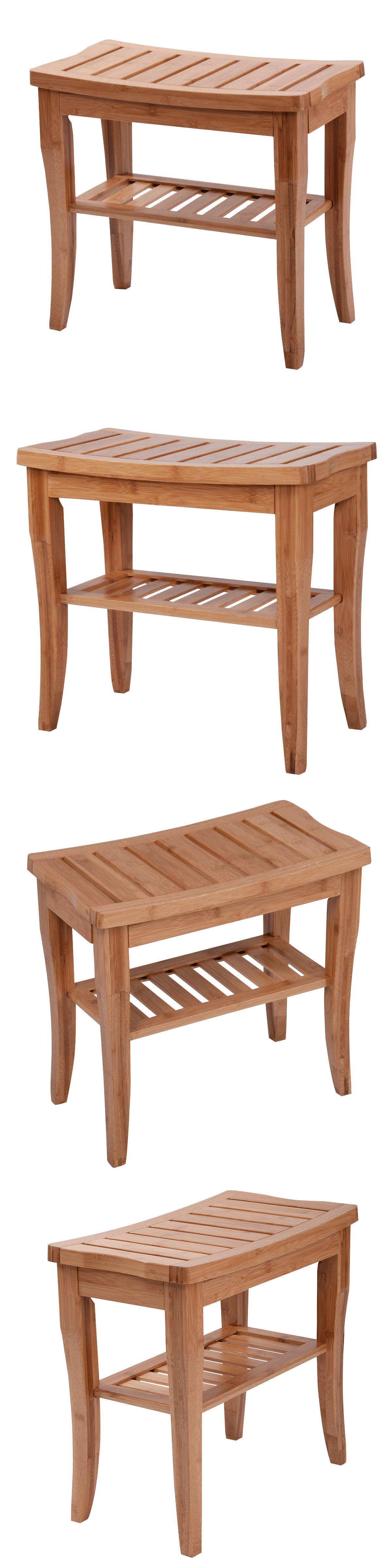 Shower and Bath Seats: Bamboo Shower Seat Bench Bathroom Spa Bath ...
