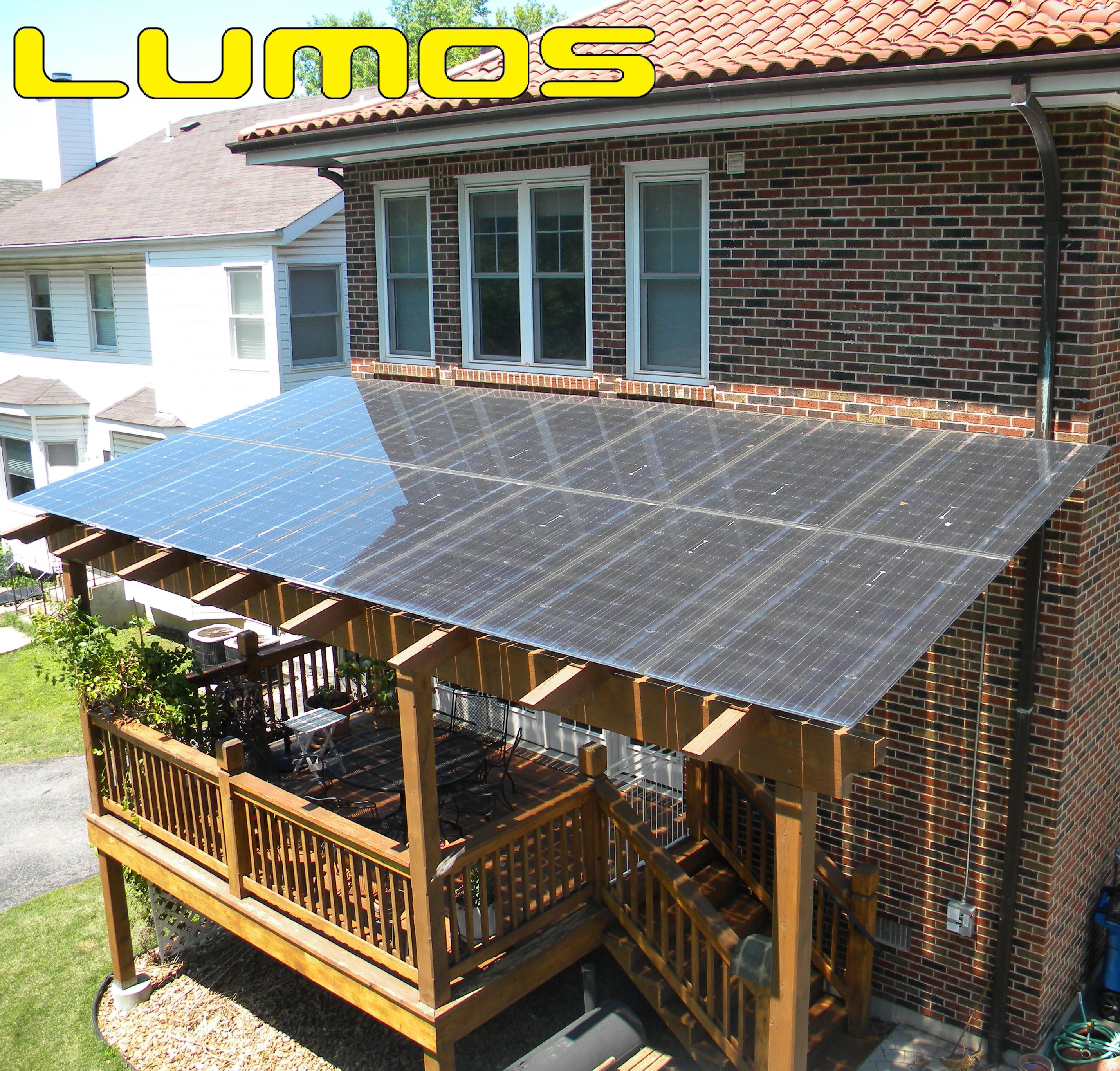 Certified Solar Installation Of Lumos LSX As A Canopy