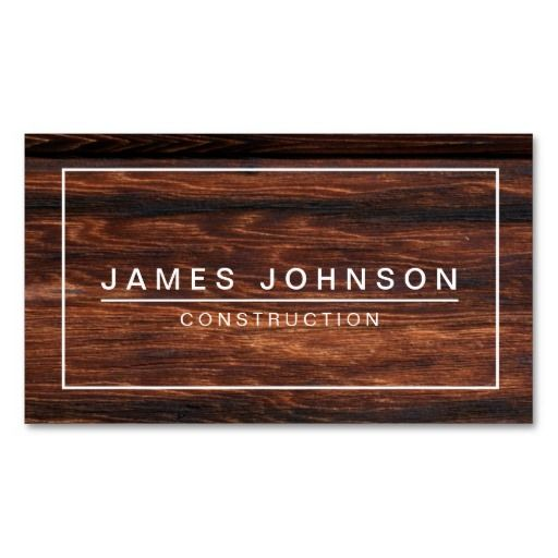 Modern minimal dark wood construction business card template modern minimal dark wood construction business card template businesscards http reheart Gallery