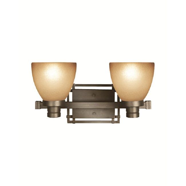 Photo of Woodbridge Lighting Wayman 2-light bronze bath bar (bronze), brown