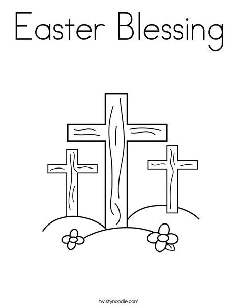 Easter Blessing Printable Coloring Page