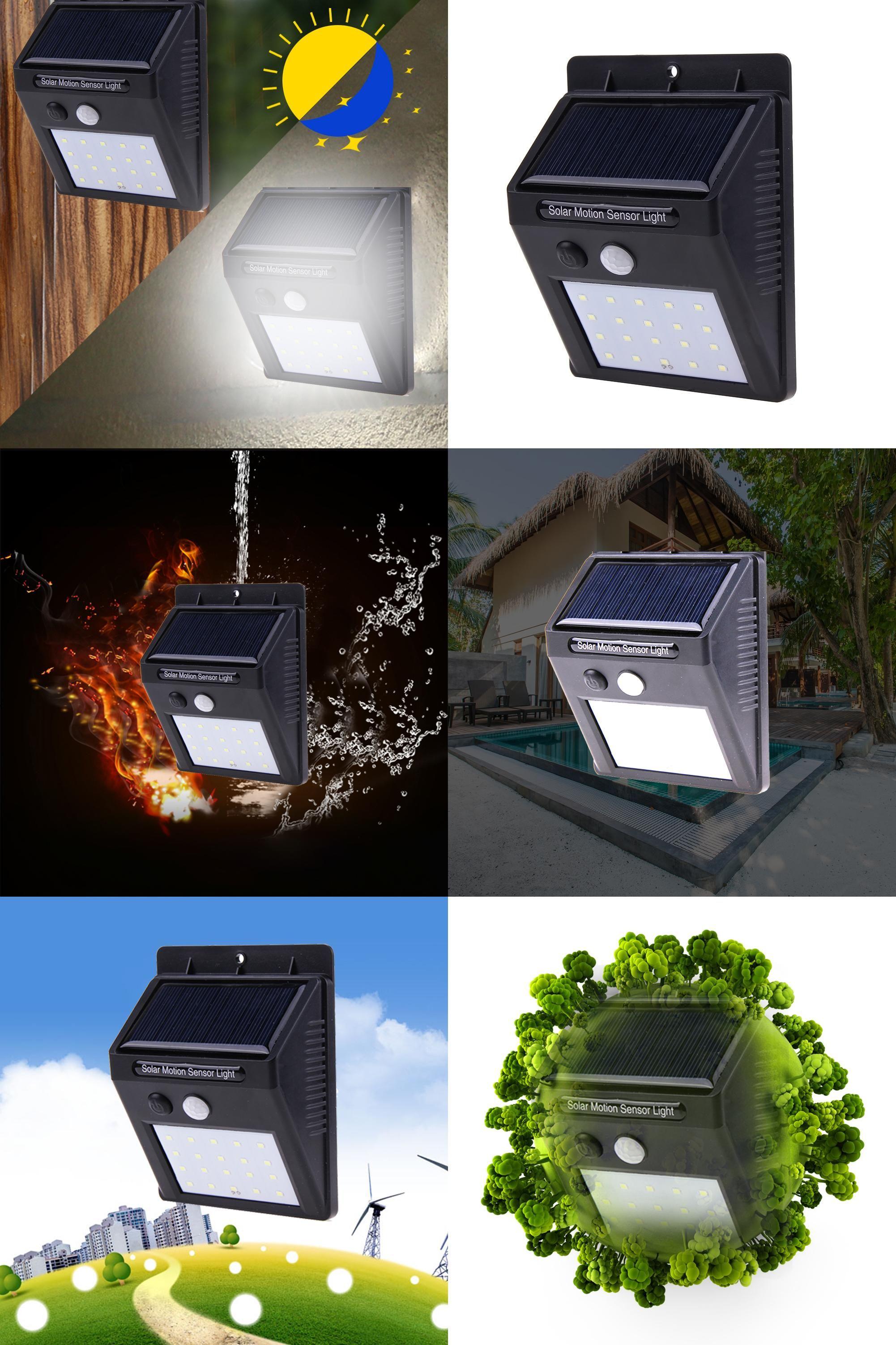 Visit To Buy 20 Led Solar Power Light Pir Motion Sensor Wall Light Outdoor Waterproof Garden Solar Powered Lights Solar Garden Lanterns Outdoor Wall Lighting