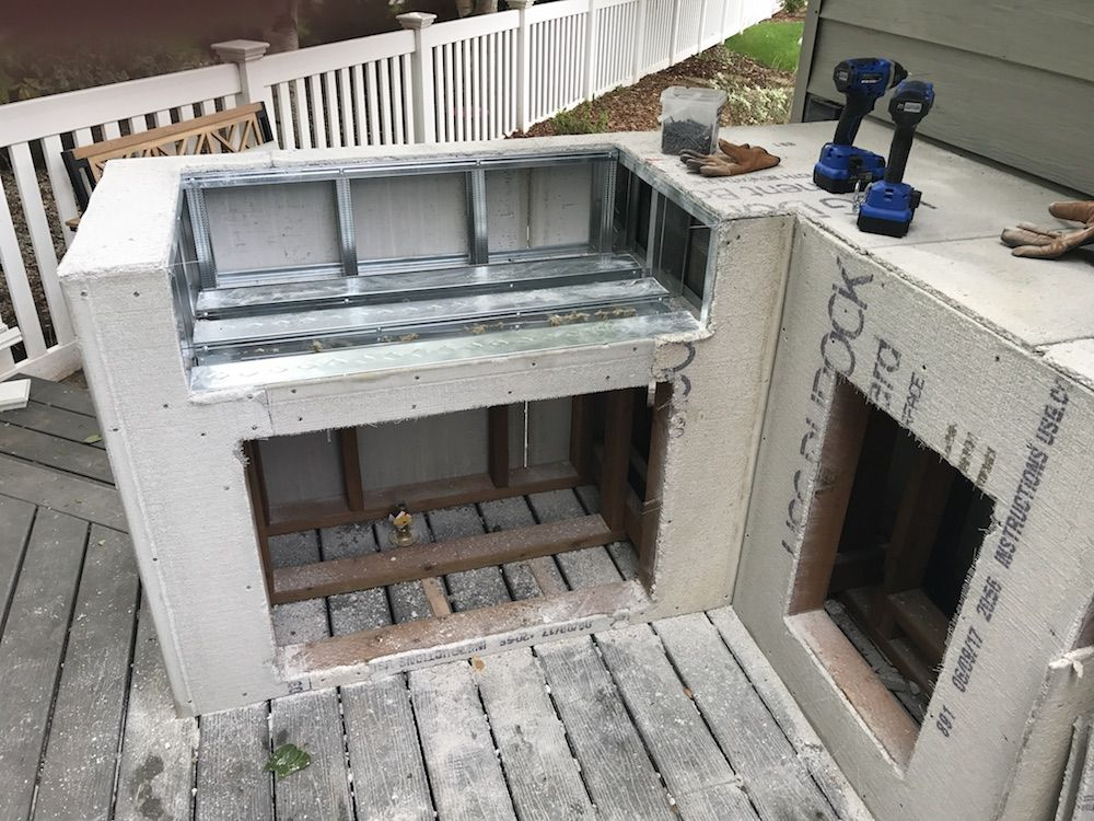 How We Diyed Our Built In Grill Built In Grill Outdoor Grill Station Diy Outdoor Kitchen