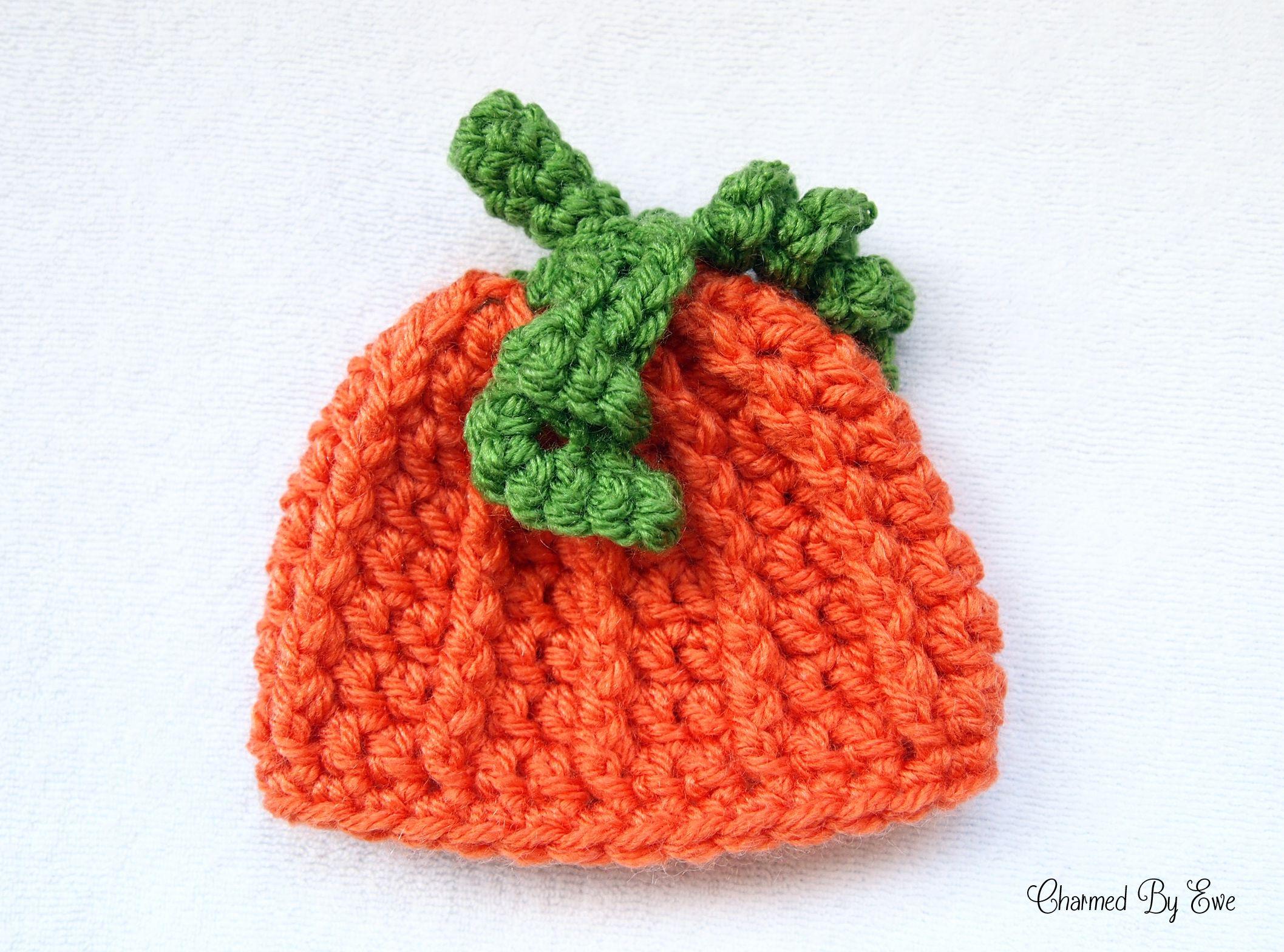 Free preemie pumpkin hat pattern | Children - Preemies | Pinterest ...