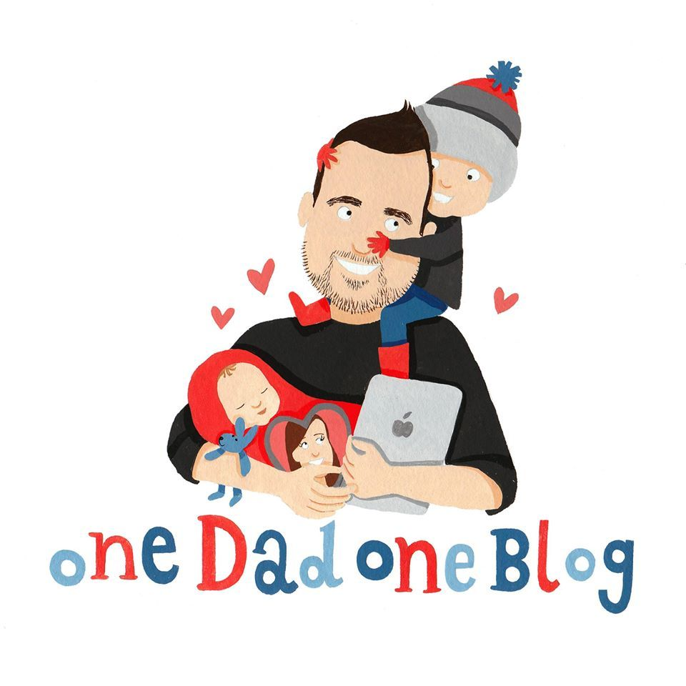 Finding a new logo for One Dad One Blog has been difficult but Sarah Coker of Greetings from Sarah has solved that