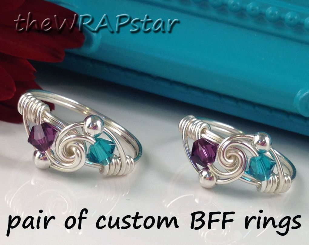 Gifts for Best Friends Rings Jewelry Wire Wrapped by theWRAPstar ...