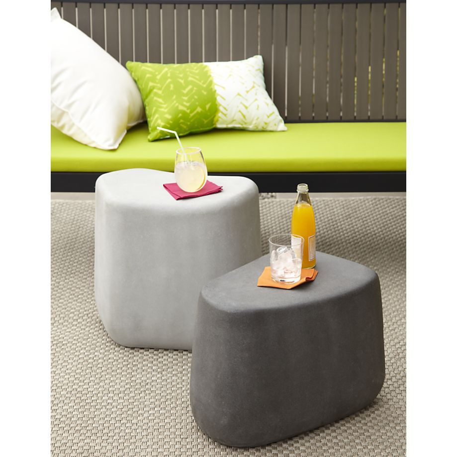 faux stone stools  sc 1 st  Pinterest & Large Stone Stool - Crate and Barrel | Faux stone Stools and ... islam-shia.org