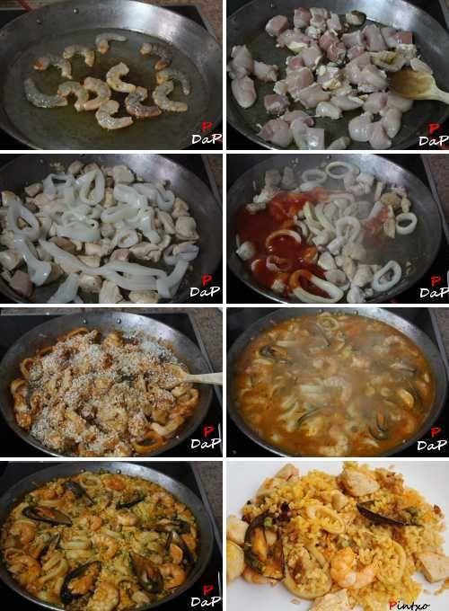 Cómo Hacer Una Paella Paellas Receta Receta De Paella De Mariscos Paella De Mariscos