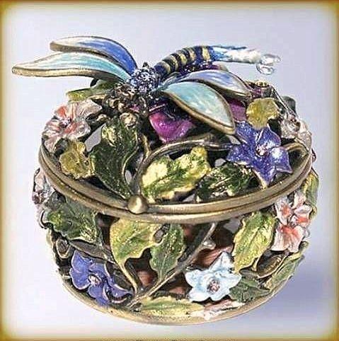 Dragonfly Jewelry Box Dragonfly Box Swarovski Crystals Jewelry