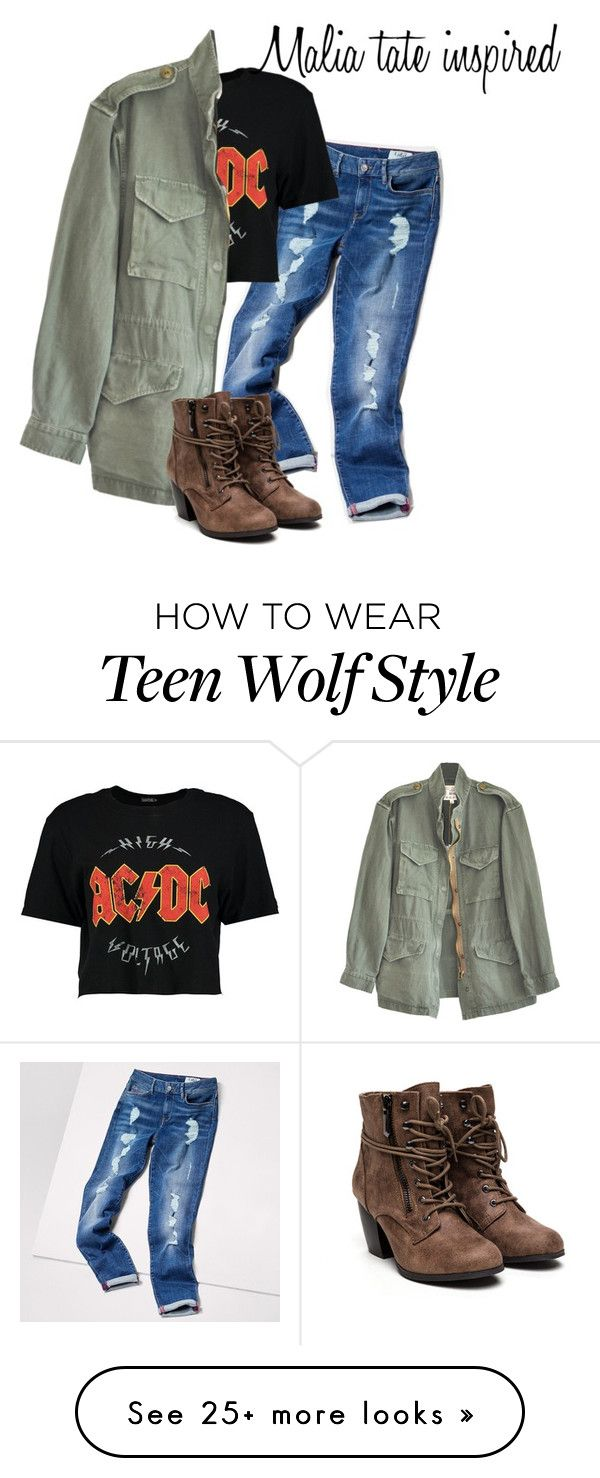 """malia tate ""teen wolf"""" by j-j-fandoms on Polyvore featuring Tommy Hilfiger, Boohoo and Nili Lotan"