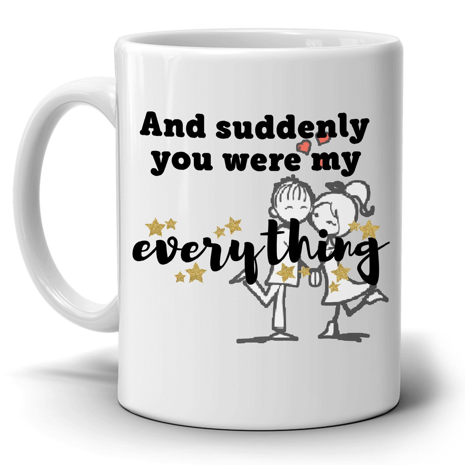Husband And Wife Romantic Couple Gift Mug, Unique Wedding