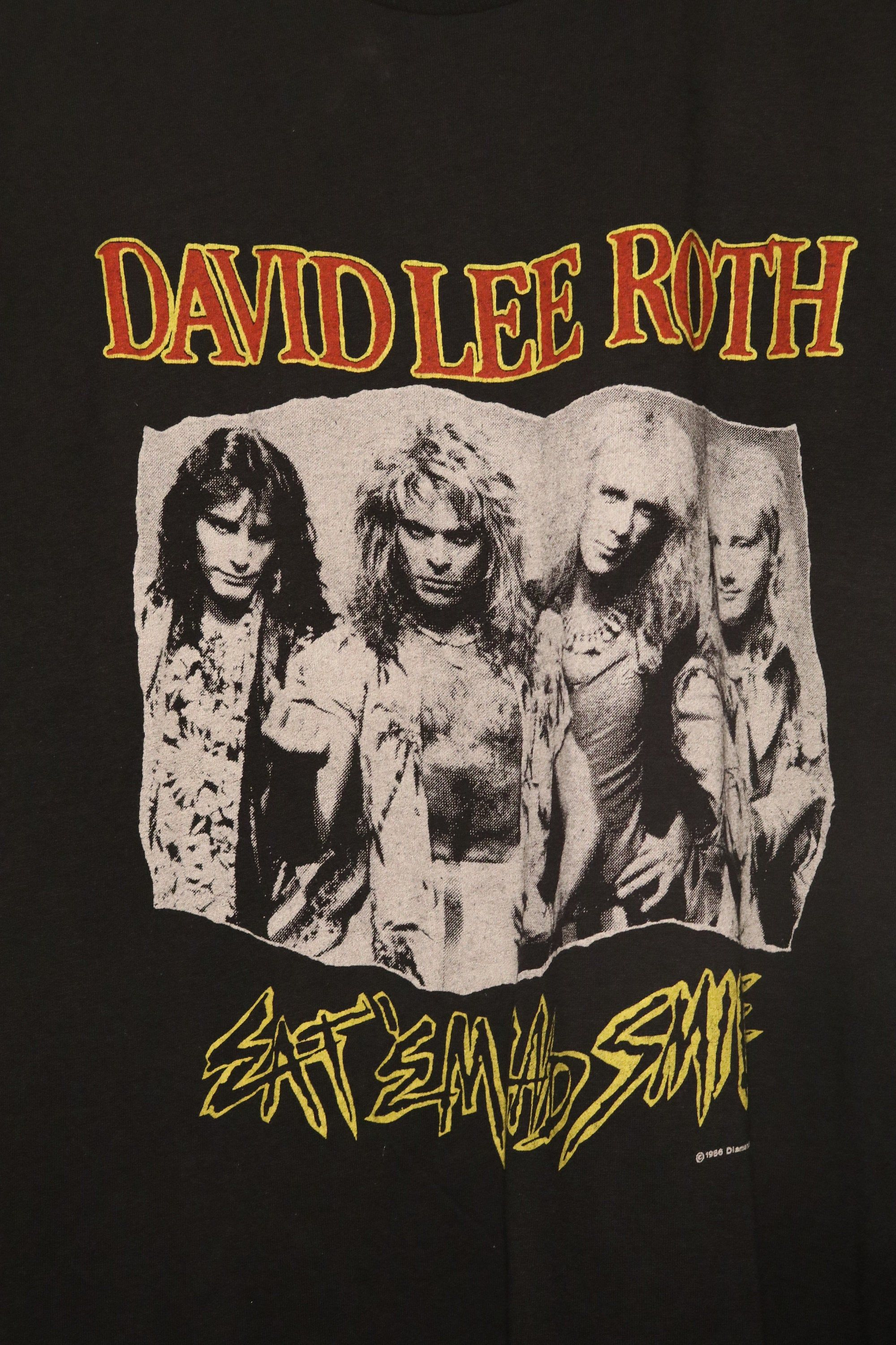David Lee Roth Concert T Vintage 1986 Eat Em Smile Tour Steve Vai Billy Sheehan Gregg Bissonette In 2020 David Lee Roth David Lee Concert Tshirts