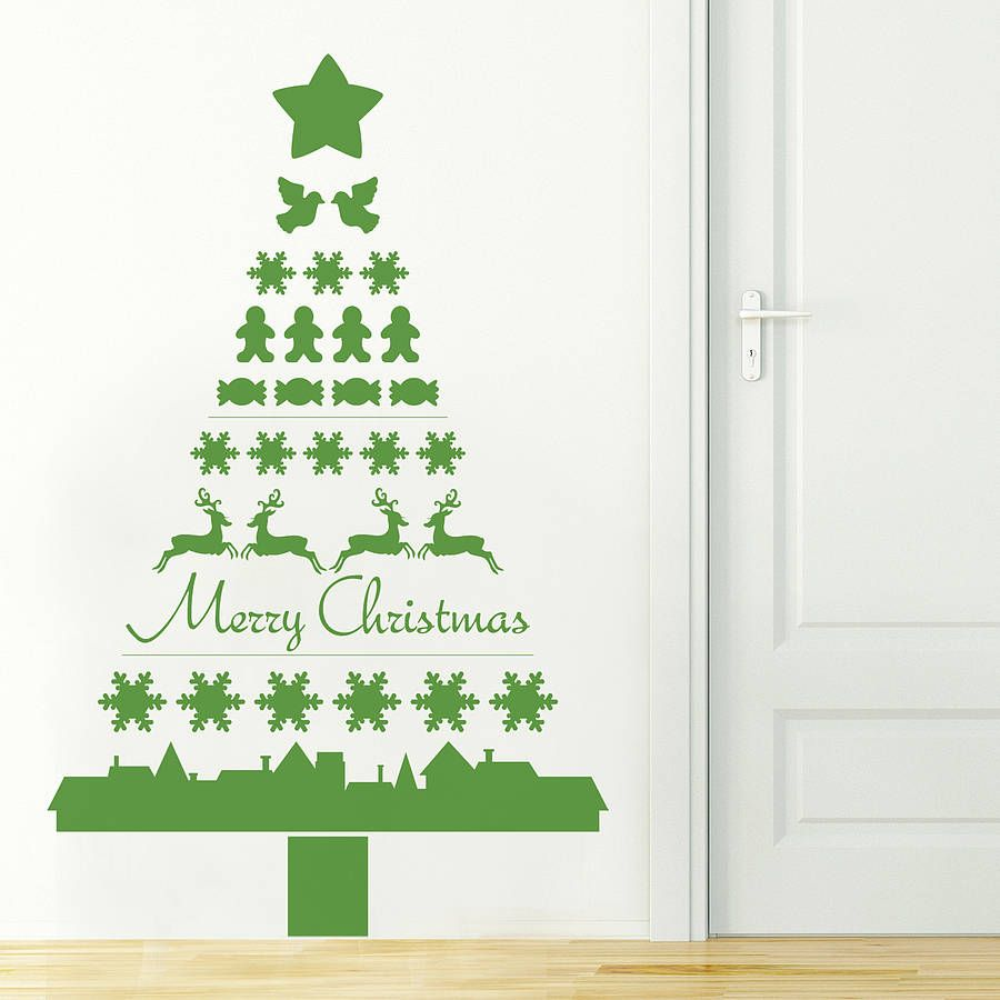 Ordinaire Nordic Christmas Tree Wall Sticker