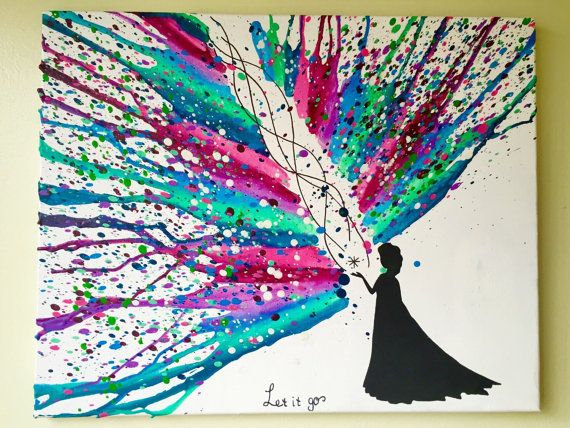 Disney's Frozen Melted Crayon art (custom color request)