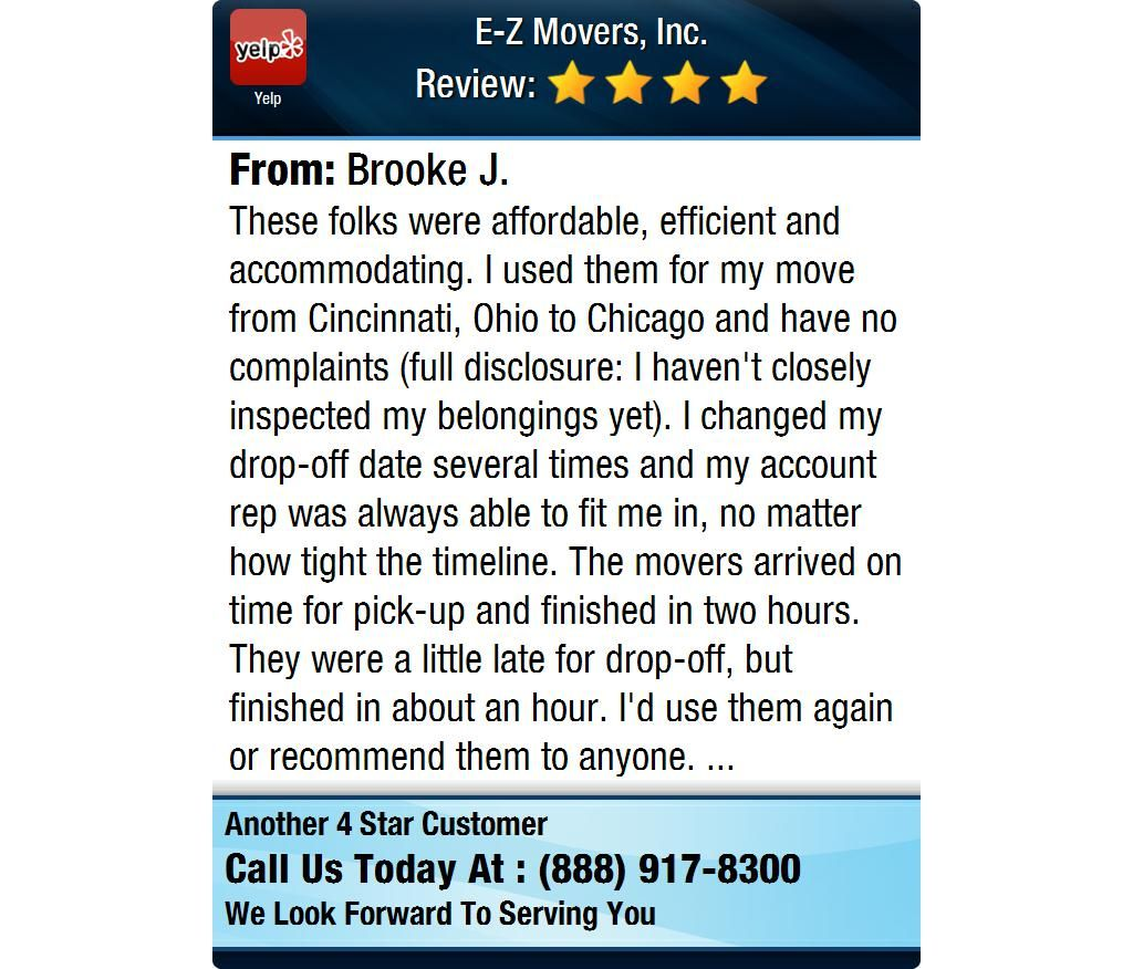 These folks were affordable, efficient and accommodating. I used them for my move from...