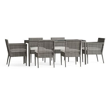 Cammeray All-Weather Wicker Rectangular Dining Table u0026 Chair Set  sc 1 st  Pinterest & Cammeray Dining Table + 2 Arm 4 Side Chairs | *Outdoor Dining ...