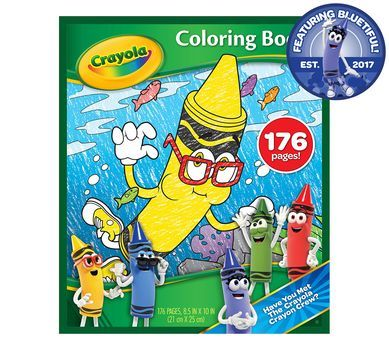 Bluetiful Crayon Coloring Book - 176 Pages   Crayola.com ...