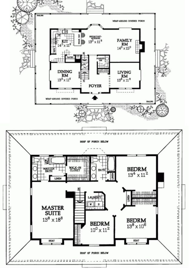 6 Farmhouse Layouts That Will Have You Wishing For The Simple Country Life Country House Plans Farmhouse Layout House Floor Plans