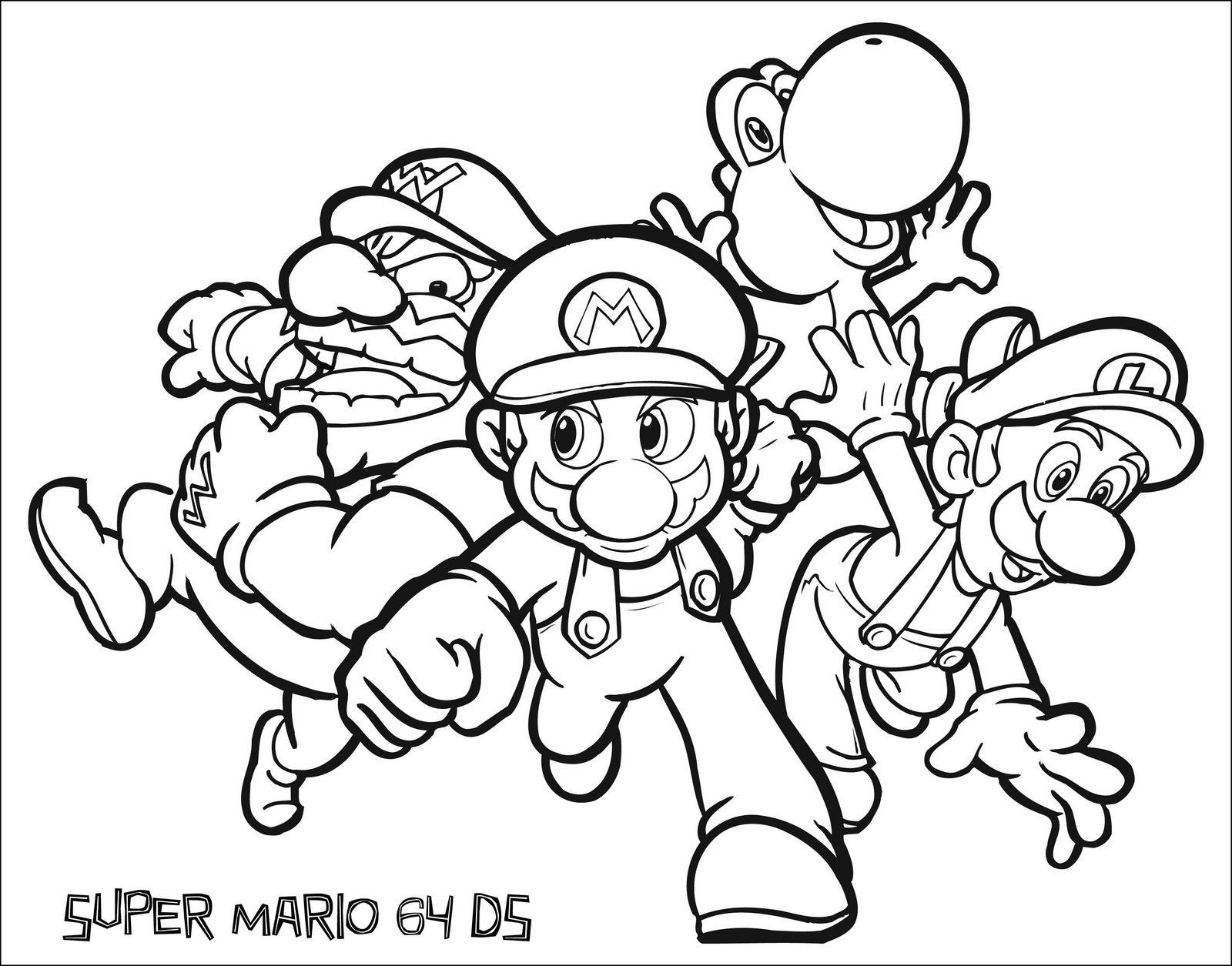 super-mario-coloring-pages  Abstract coloring pages, Mario