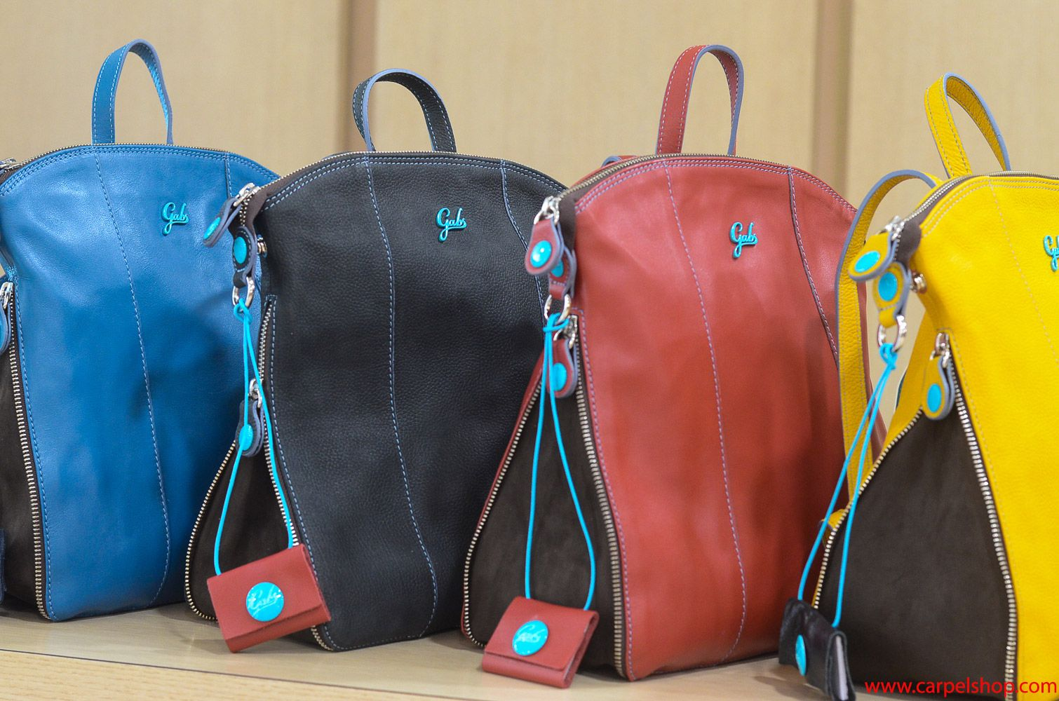3538e8e9e5 Gabs Zaino in pelle nei colori Oceano, Nero, Rosso, Giallo in vendita Online  su Carpel Shop