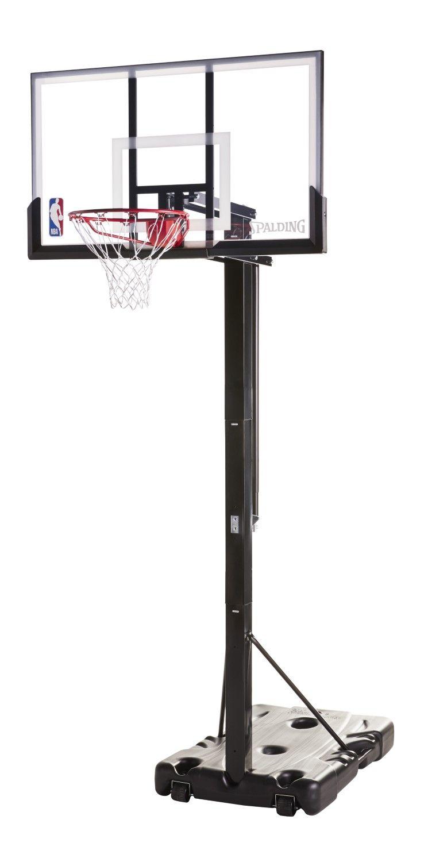Spalding Nba Portable Basketball Hoop With 54 Polycarbonate Backboard Basketball Hoop Youth Basketball Basketball