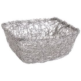 Modern Furniture And Decor For Your Home And Office Wire Mesh Silver Storage Basket