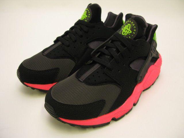 detailed look b5dcd 3c85a NIKE AIR HUARACHE ANTHRACITE - BLACK - HYPER PUNCH 318429-006  Nike   sneakers