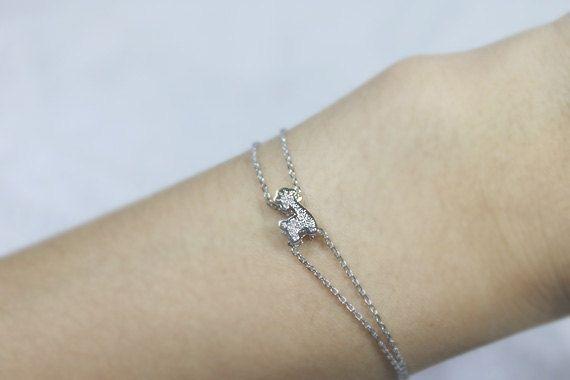 Cute Giraffe Bracelet S3223 By Ringostone On Etsy 15 00