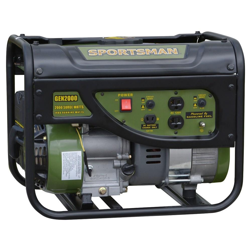 Gasoline 2000 Watt Portable Generator Black Sportsman