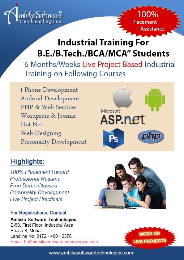 At Ambika Software Technologies Our Training Cell Is In The Process Of Recruiting Bca Mca B Tech Cse It App Development Web Development Company Development