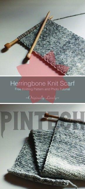 Photo of Herringbone Knit Scarf | Originally Lovely Free Knitting Pattern | Herringbone K…