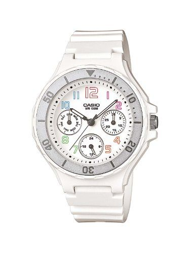 5d7dee21c73f Casio LRW-250H-7BVEF - Reloj analógico de cuarzo para mujer con correa  resina color blanco