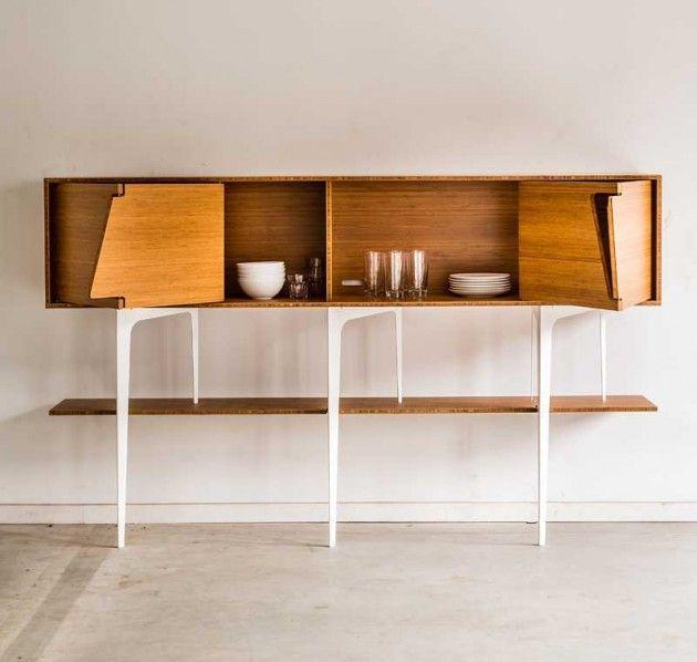 Minimalist Neus Sideboard With Asymmetrical Doors | DigsDigs