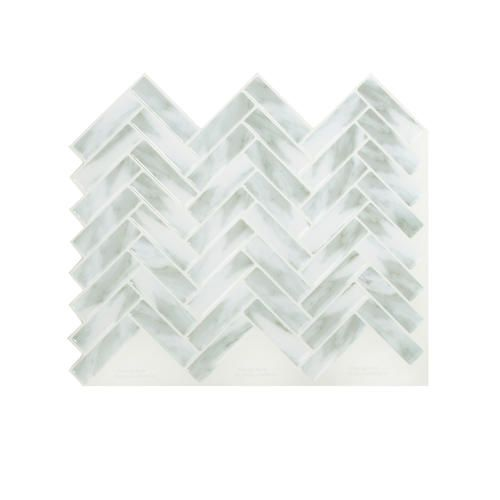 Peel Impress Peel And Stick Backsplash Tiles 4 Pack At Menards Peel Impres Adhesive Backsplash Self Adhesive Backsplash Self Adhesive Backsplash Tiles