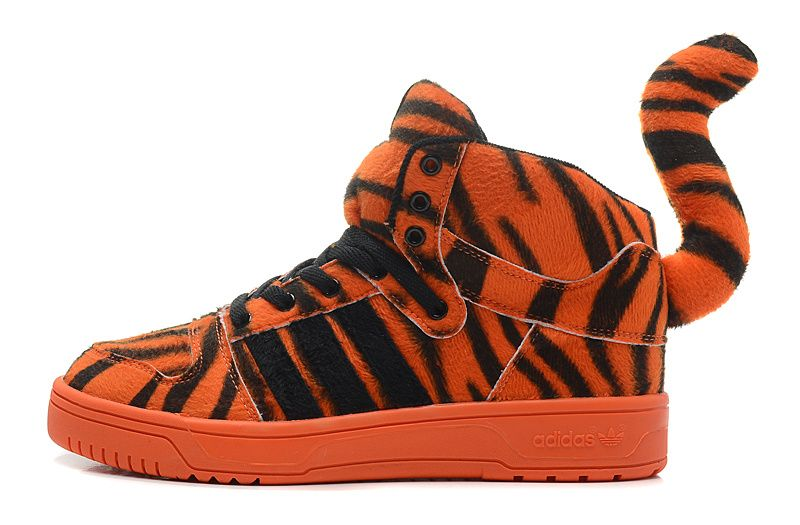 Jeremy Scott x adidas Originals Zebra Panther Tail Orange Black UK Training  Sneakers