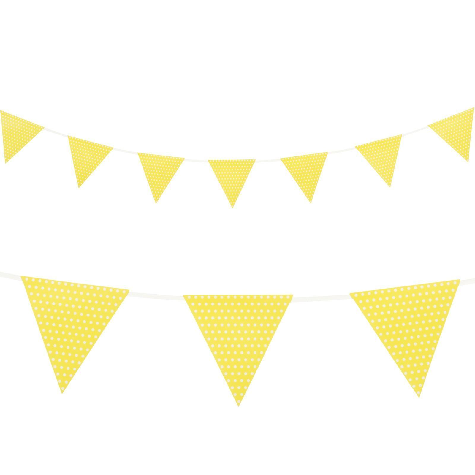 Yellow With Polka Dots Paper Flag Banner 1 Polka Dot Paper Flag Banners Banner
