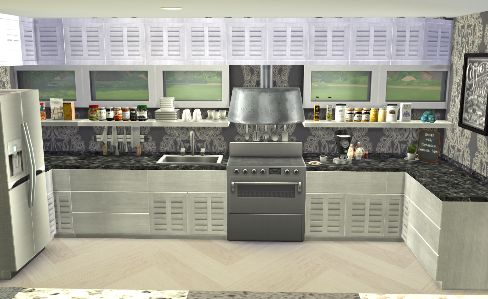 Sims 3 Kitchen My Little The Sims 3 World Future Kitchen Recolors Sims4 Cc